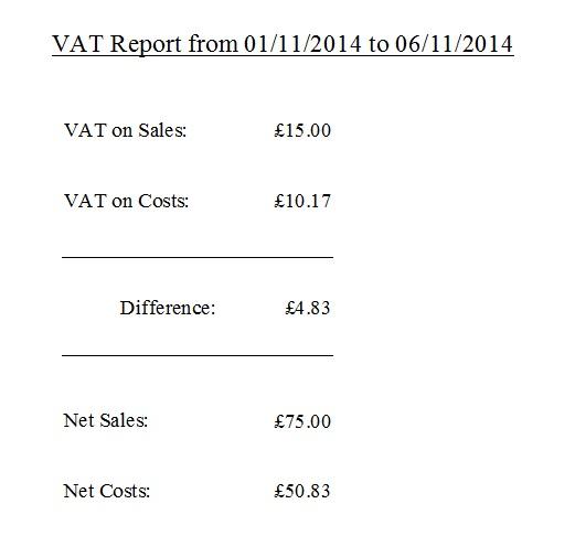 Demo of a VAT report