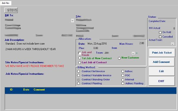 Edens Landscapes Database, Clients, Jobs, Invoicing