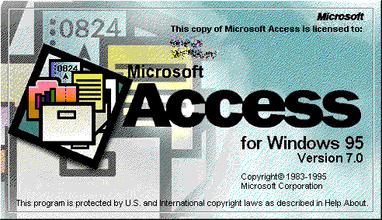 Microsoft Access 95 logo