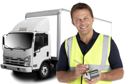 Truck delivery driver using app