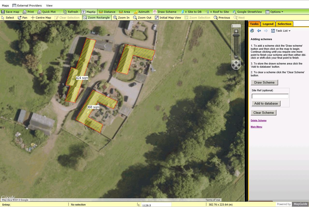 screenshot of solar project management GIS
